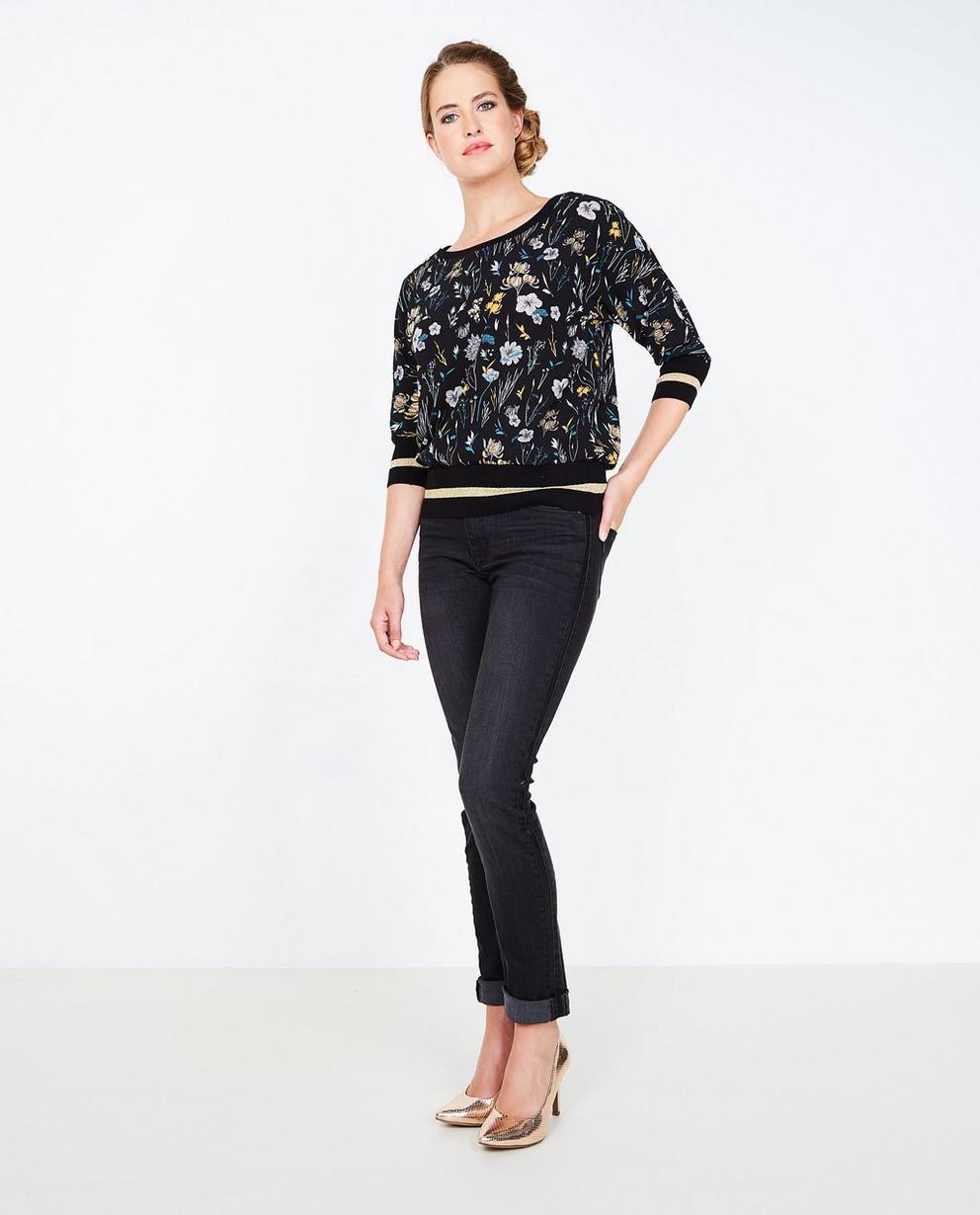 Zwarte washed jeans - met pailletten - JBC
